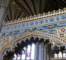 Fine Workmanship in Gold and Blue - Exeter Cathedral by Kathryn Jones