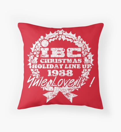 IBC Christmas Line Up- RED Throw Pillow