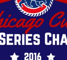 Chicago Cubs World Series Champs Sticker