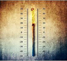 matchstick thermometer Photographic Print