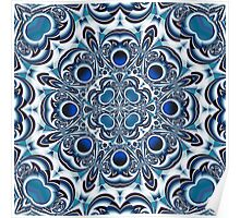 Snowflake fractal pattern Poster