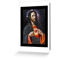 Faithful Jesus Sacred Heart  Greeting Card