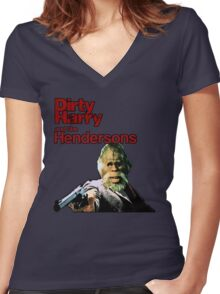 Dirty Harry and the Hendersons Women's Fitted V-Neck T-Shirt