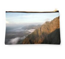 Sunrise Over the Mountainside, Mount Bromo.  East Java.  Indonesia. Studio Pouch