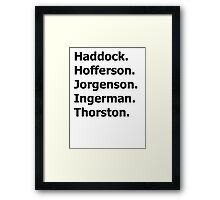 How to Train Your Dragon Names  Framed Print