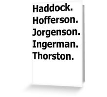 How to Train Your Dragon Names  Greeting Card