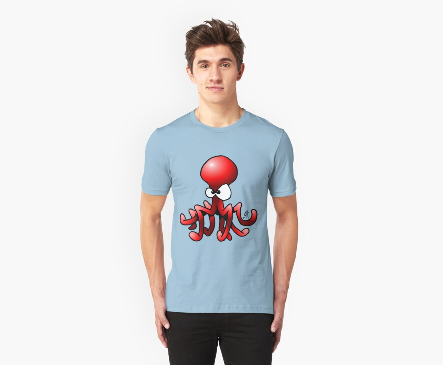 Red Octopus by cardvibes