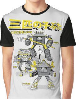 3 Little Pigs - Mechanized Assault Graphic T-Shirt