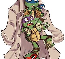 Turtles in a Trenchcoat by sharpie91