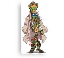 Turtles in a Trenchcoat Canvas Print