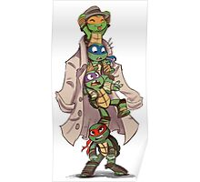 Turtles in a Trenchcoat Poster