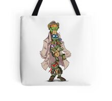 Turtles in a Trenchcoat Tote Bag