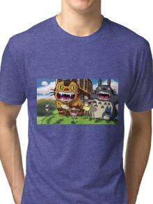 My Neighbor Totoro - Roar at the Wind Tri-blend T-Shirt