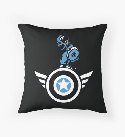 Marvels: Captain America  Throw Pillow