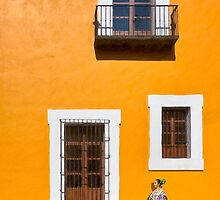 Walking The Golden Streets Of Puebla Mexico by Mark Tisdale