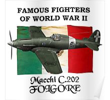 Famous Fighters - C.202 Folgore Poster