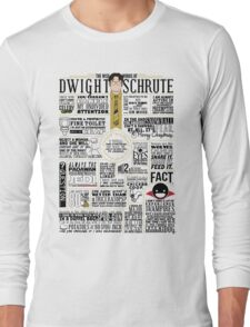 The Wise Words of Dwight Schrute (Light Tee) Long Sleeve T-Shirt