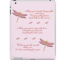 May You Touch Dragonflies and Stars Girl iPad Case/Skin