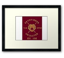 Gryffindor Quidditch - Team Captain Framed Print