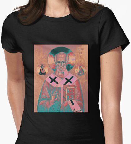 Saint Nicholas Icon Womens Fitted T-Shirt