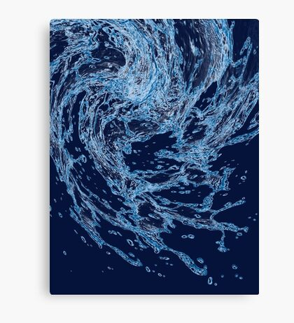 Blue water drops Canvas Print