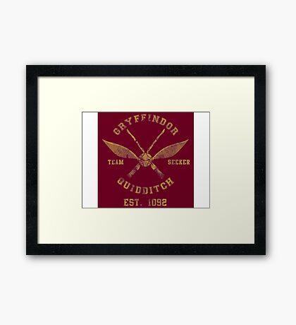 Gryffindor Quidditch - Team Seeker Framed Print