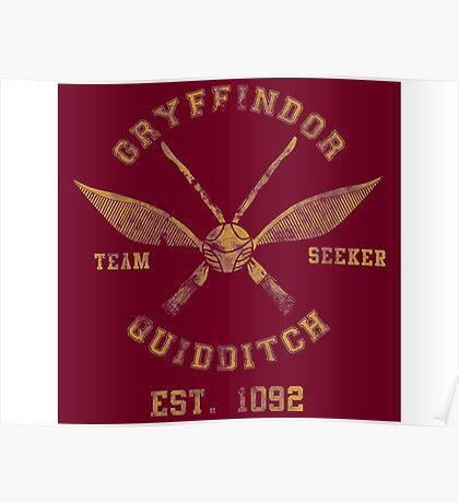 Gryffindor Quidditch - Team Seeker Poster