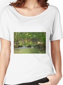 Woodland River Scene, Wolfscote Dale Women's Relaxed Fit T-Shirt
