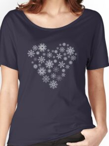 A sparkly winter Women's Relaxed Fit T-Shirt