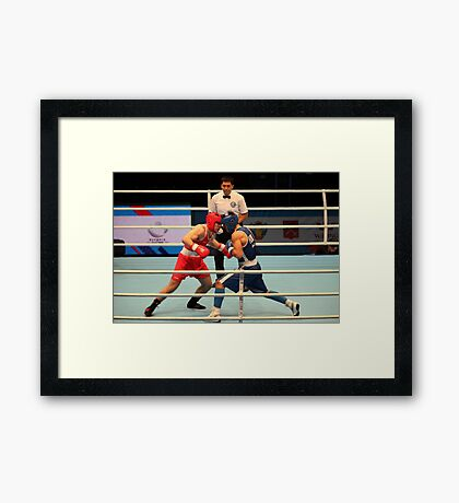 Boxing match World Championship's Framed Print
