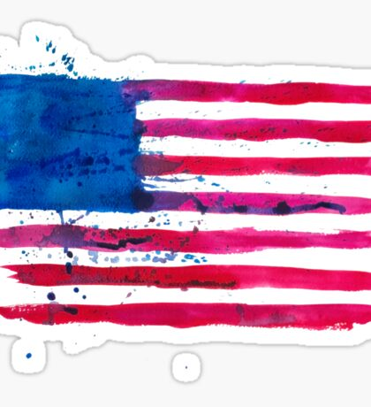 Watercolor Flag of the USA Sticker