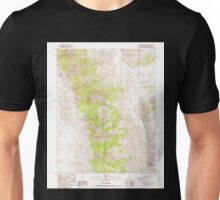 USGS TOPO Map California CA White Mtn Peak 295772 1987 24000 geo Unisex T-Shirt