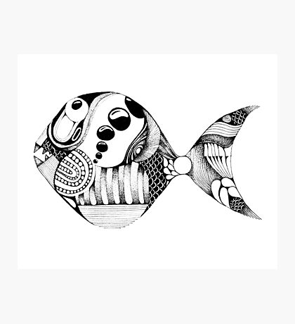 Fish Doodle Photographic Print