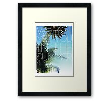In the Summer Framed Print
