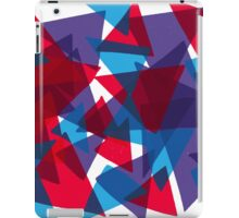 Shattered Red & Blue iPad Case/Skin