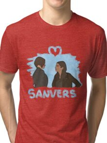 Sanvers - Color Blanco Tri-blend T-Shirt