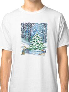 Winter Spruce Tree Classic T-Shirt