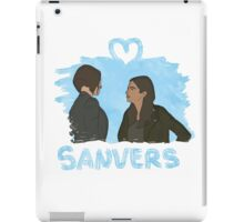 Sanvers - Color Blanco iPad Case/Skin