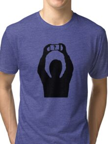 Man with mobile phone Tri-blend T-Shirt