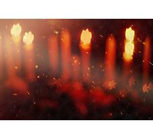 kerzen im wind  -  candles in the wind Photographic Print
