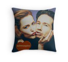 The Schmoopies - Gillian and David painting Throw Pillow