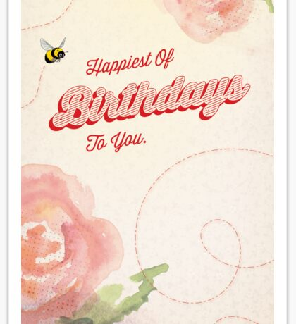 Happiest of Birthdays - 1 Sticker