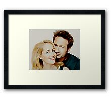 Gillian and David painting Framed Print