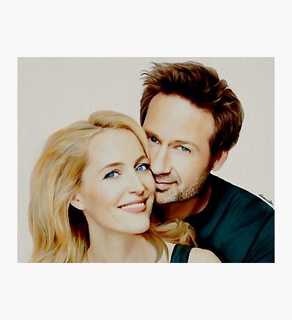 Gillian and David painting Photographic Print