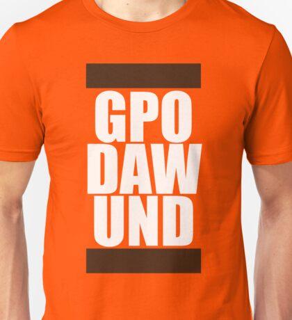 GPO DAW UND (Brown/White) Unisex T-Shirt