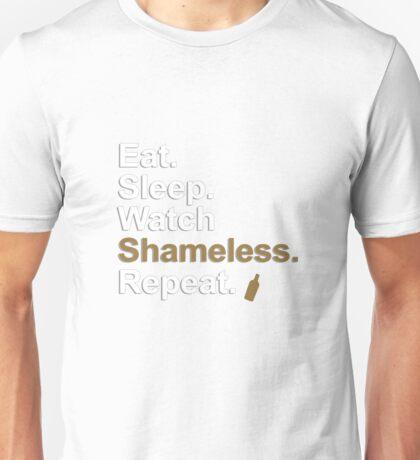 Eat, Sleep, Watch Shameless, Repeat {FULL} Unisex T-Shirt