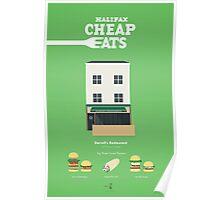 Halifax Cheap Eats - Darrell's Restaurant Poster Poster