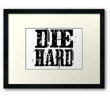 die hard classic hollywood movies movie film acton t shirts Framed Print