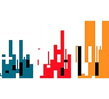 Skyline, Generative Art, Data Visualisation Photographic Print