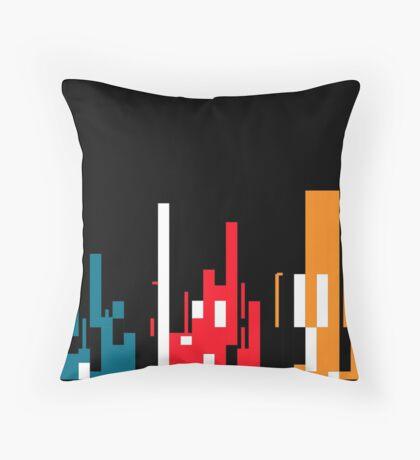 Skyline, Generative Art, Data Visualisation Throw Pillow